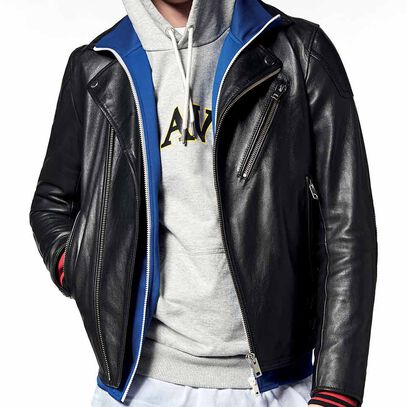 DIESEL LEATHER JACKETS FOR HIM