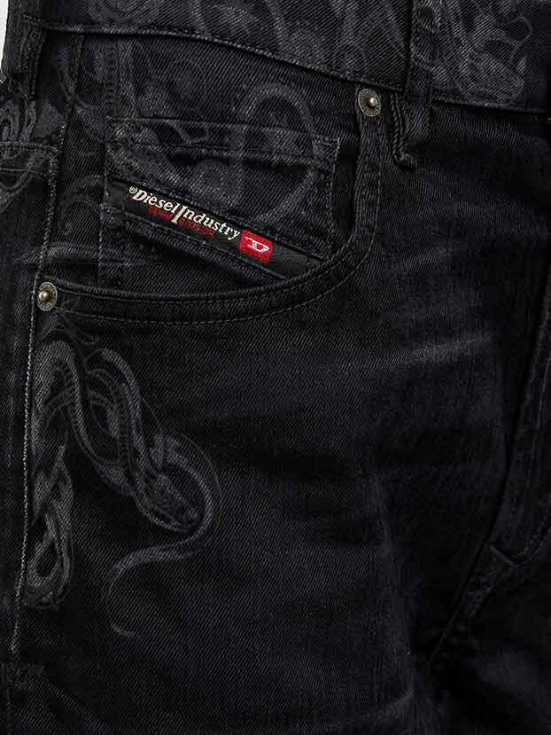 D-Reggy 009LC, Black/Dark grey - Jeans