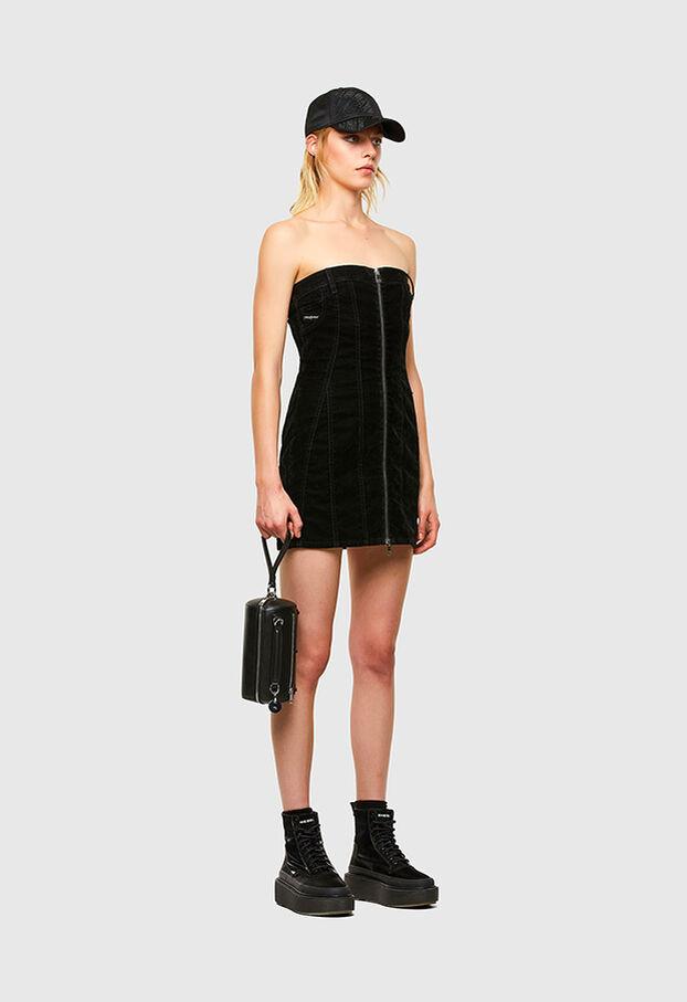 D-VOLCANO-SP JOGGJEANS, Black/Dark grey - Dresses