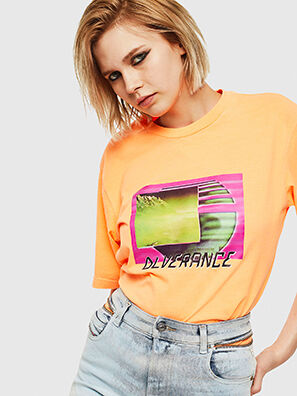 T-JUST-NEON-S1, Orange - T-Shirts