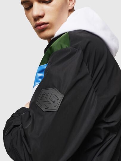 Diesel - J-LISOV, Black/Green - Jackets - Image 3