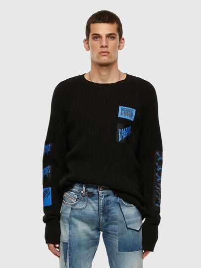 Diesel - K-SIMON, Black - Knitwear - Image 7
