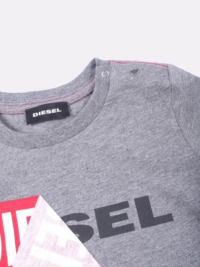 Diesel - TOQUEB, Grey - T-shirts and Tops - Image 3