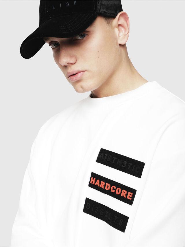 S-BAY-YE Men: Sweatshirt with velcro patches | Diesel