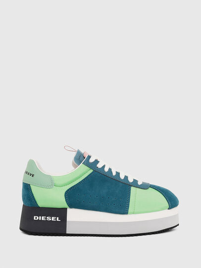 Diesel - S-PYAVE WEDGE, Green/Blue - Sneakers - Image 1