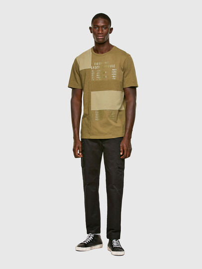 Diesel - T-ATCHWORK, Military Green - T-Shirts - Image 5