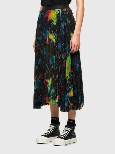 Diesel - O-SHEER, Black - Skirts - Image 5