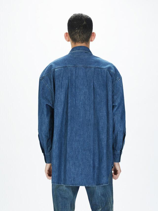 Diesel - SOTS01, Dark Blue - Shirts - Image 5