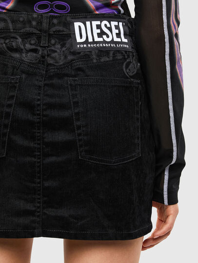 Diesel - DE-FREESIA-SP, Black - Skirts - Image 5