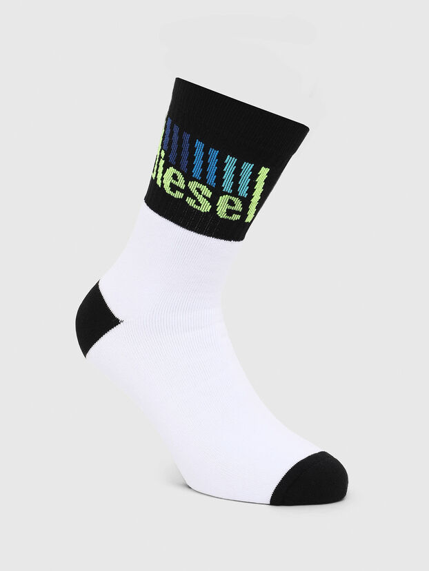 SKM-RAY, White/Black - Socks