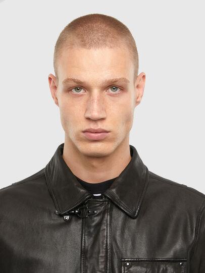 Diesel - L-LUC, Black - Leather jackets - Image 3