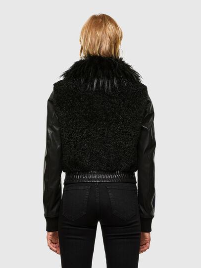 Diesel - L-LEDA, Black - Leather jackets - Image 2