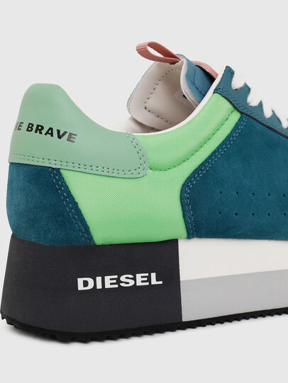 Diesel - S-PYAVE WEDGE, Green/Blue - Sneakers - Image 4
