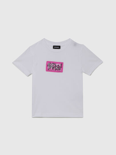 Diesel - TJUSTX62B-R, White - T-shirts and Tops - Image 1