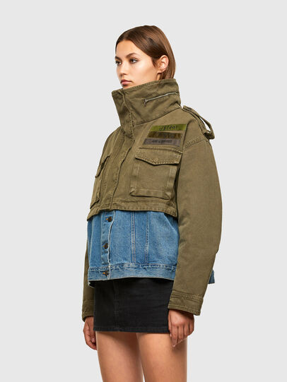 Diesel - G-CHRISTINA, Military Green - Jackets - Image 7