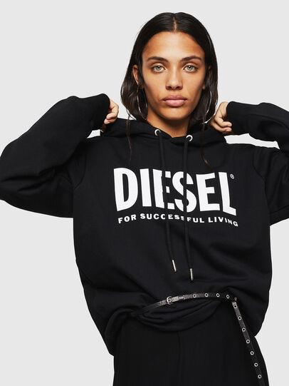 Diesel - F-GIR-HOOD-DIV-LOGO-, Black - Sweaters - Image 3