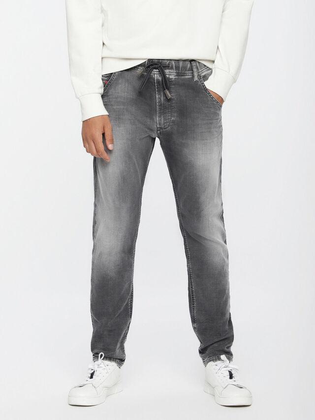 Diesel - Krooley JoggJeans 0855B, Light Grey - Jeans - Image 1