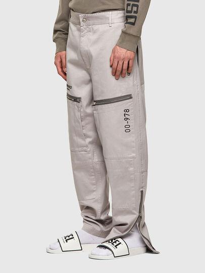 Diesel - P-AMBRIDGE-A, Light Grey - Pants - Image 3