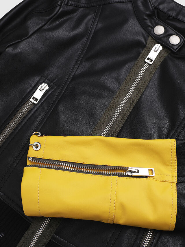 Diesel - JLLYSSA, Black/Yellow - Jackets - Image 3