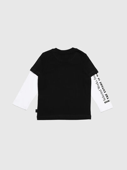 Diesel - TANCEB-R, Black/White - T-shirts and Tops - Image 2