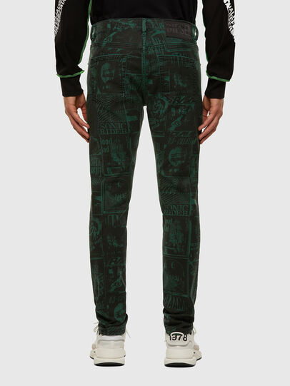 Diesel - D-Strukt 009GB, Dark Green - Jeans - Image 2