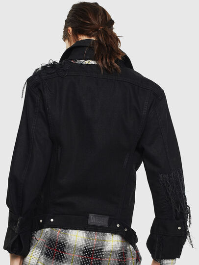 Diesel - DE-NALINI, Black/Dark grey - Denim Jackets - Image 2