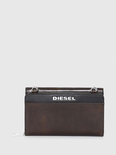 Diesel - DUPLET LCLT, Brown/Black - Zip-Round Wallets - Image 2
