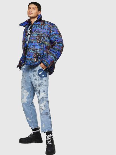 Diesel - W-PIATIG-MONSTER, Blue/Black - Winter Jackets - Image 8