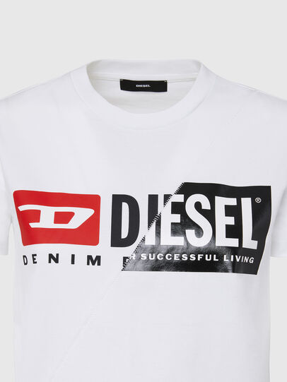 Diesel - T-SILY-CUTY, White - T-Shirts - Image 3