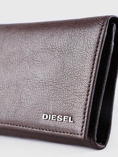 Diesel - 24 A DAY, Brown - Continental Wallets - Image 3