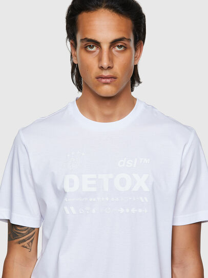 Diesel - T-JUST-B63, White - T-Shirts - Image 3