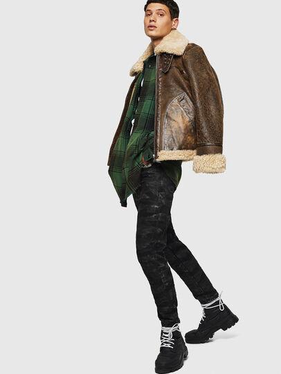 Diesel - L-BALASOVI, Brown - Leather jackets - Image 8