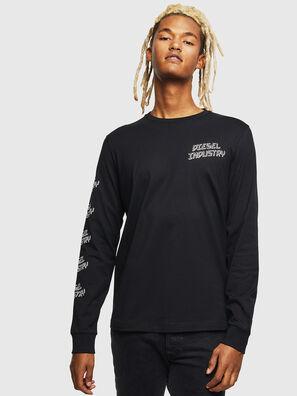 T-DIEGO-LS-J1, Black - T-Shirts