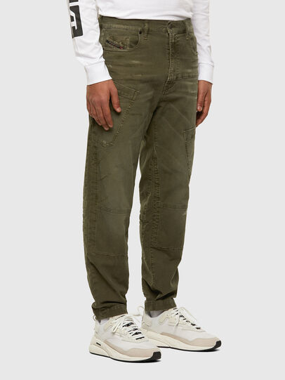 Diesel - D-Azzer JoggJeans 069NF, Military Green - Jeans - Image 6