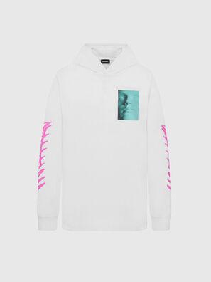 T-JUST-LS-HOOD-X30, White - T-Shirts