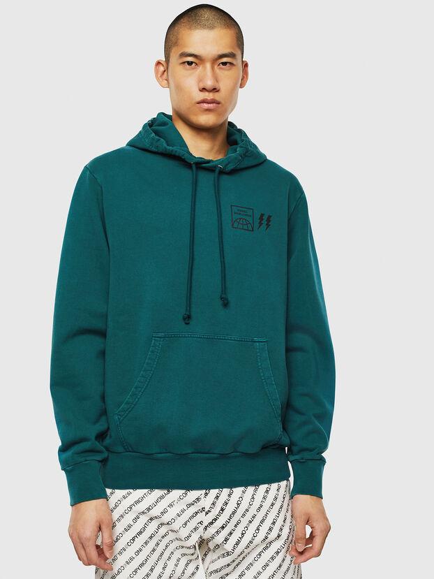 S-GIRK-HOOD-SUN, Dark Green - Sweaters