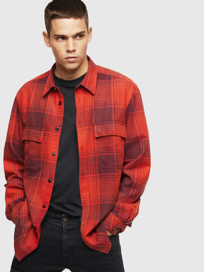 Diesel - S-MILLERIN, Red - Shirts - Image 4