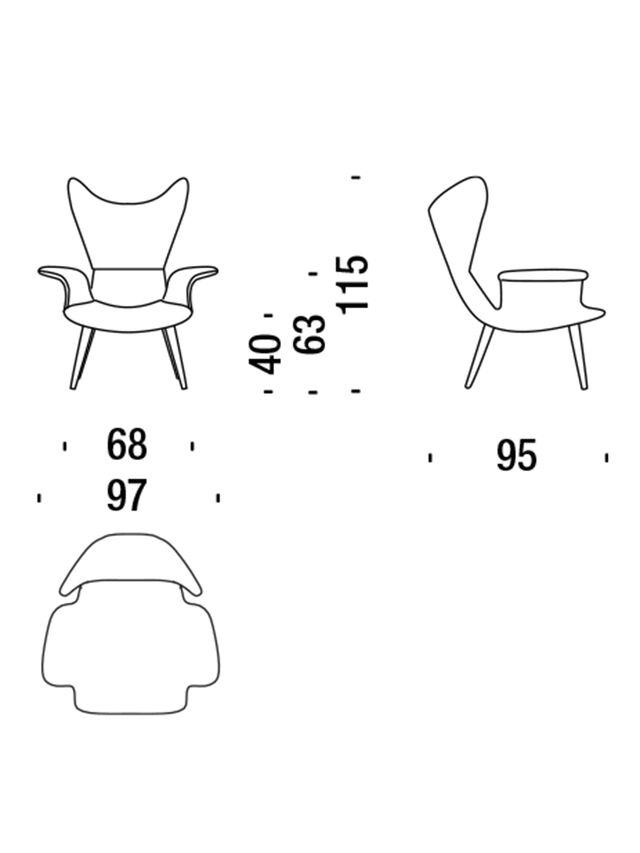 Diesel - DL2H05 LONGWAVE, Grey - Armchairs - Image 3