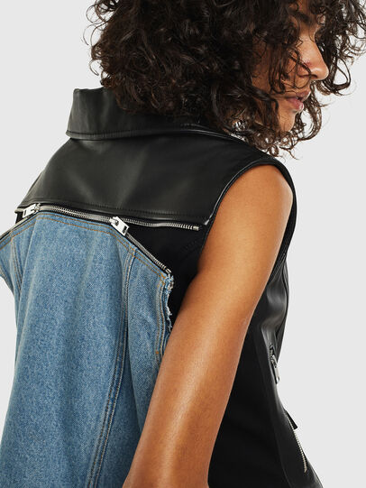 Diesel - L-WELLS, Black Leather - Leather jackets - Image 6