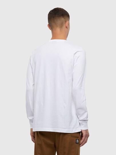 Diesel - T-JUST-LS-X93, White - T-Shirts - Image 2