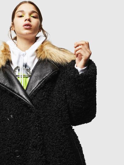 Diesel - L-ASC, Black - Leather jackets - Image 3