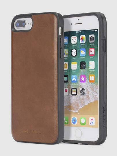 Diesel - BROWN LEATHER IPHONE X CASE,  - Cases - Image 1