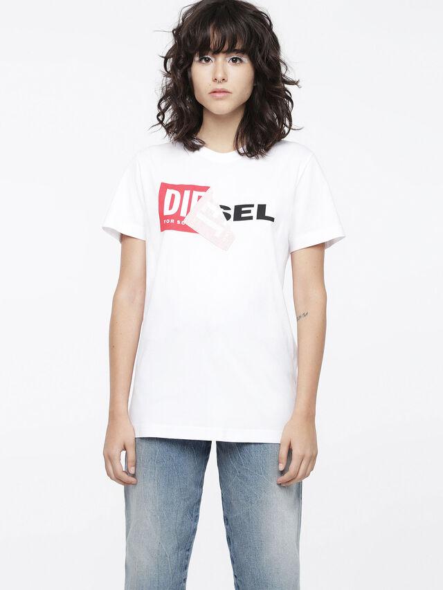 Diesel T-DIEGO-QA-FL, White - T-Shirts - Image 1
