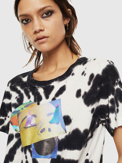 Diesel - T-SILY-S4, Black/White - T-Shirts - Image 3