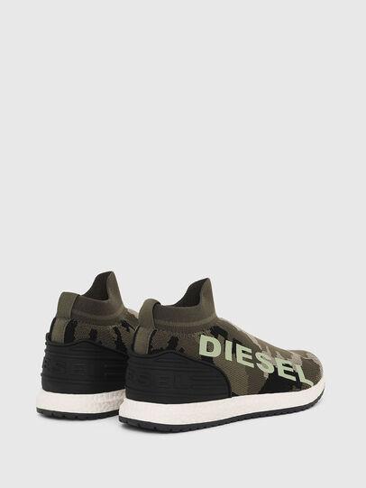 Diesel - SLIP ON 03 LOW SOCK, Green Camouflage - Footwear - Image 3