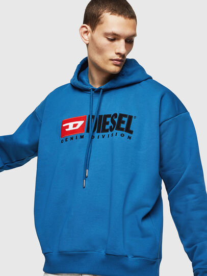 Diesel - S-DIVISION, Blue - Sweaters - Image 4