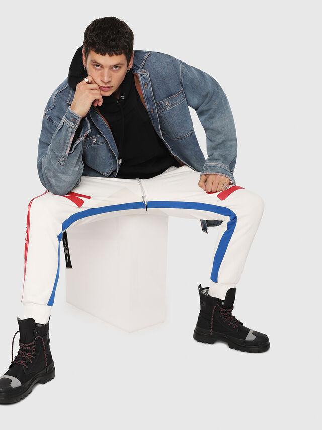 Diesel - P-YATRI, White/Red/Blu - Pants - Image 3