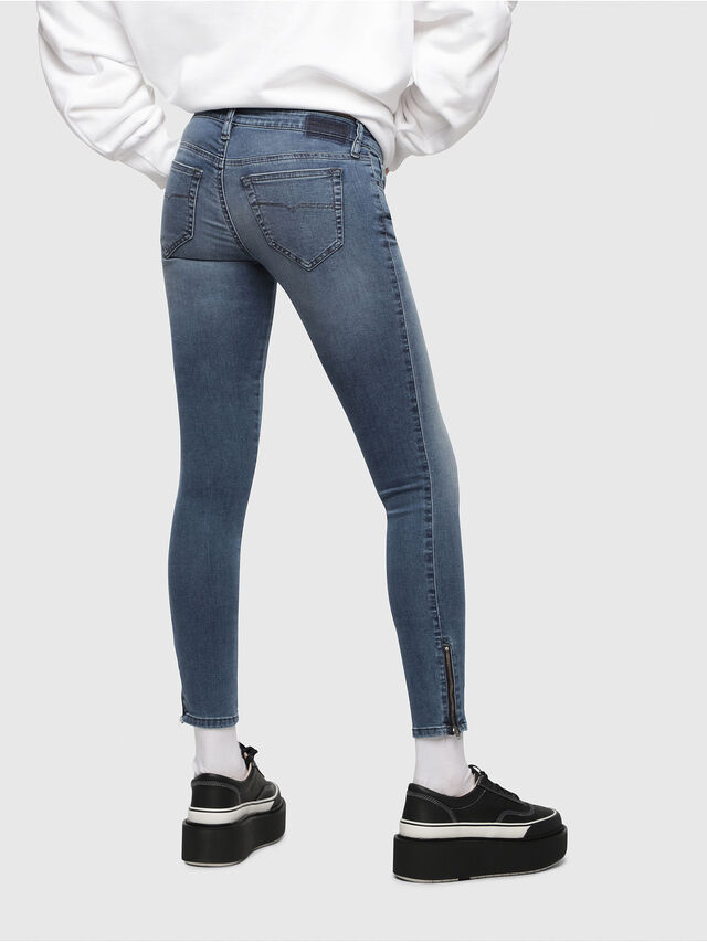 Diesel - Skinzee Low Zip 0681P, Medium blue - Jeans - Image 2