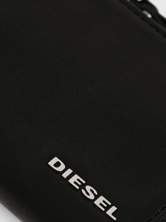 Diesel - L-PASSME, Black Leather - Small Wallets - Image 3