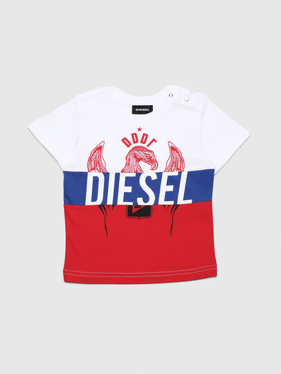 Diesel - TRICKYB, White/Red/Blu - T-shirts and Tops - Image 1